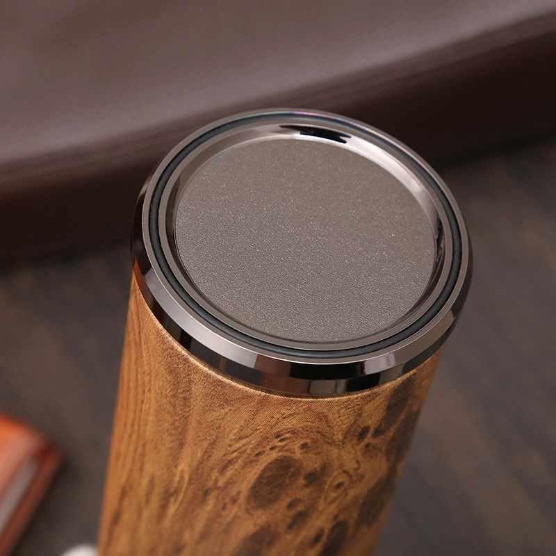 紫砂創造ギフト木目ビジネスオフィスカップレトロステンレス鋼魔法瓶