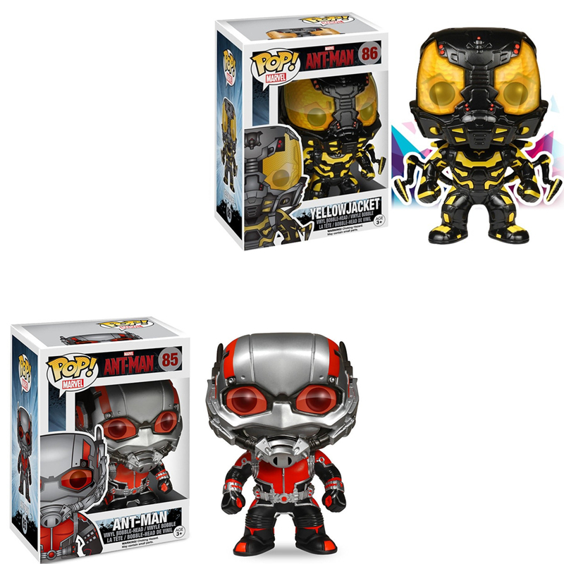Funko POP Official Marvel Movie Ant Man Yellow Jacket Ant-Man The Avengers Vinyl Action Figures Collectible Model Toys For GiftsFunko POP Official Marvel Movie Ant Man Yellow Jacket Ant-Man The Avengers Vinyl Action Figures Collectible Model Toys For Gifts