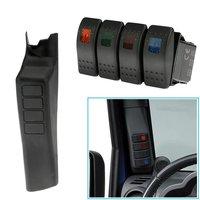 Left Hand A Pillar 4 Switch Panel Pod For Jeep Wrangler JK JKU Unlimited Rubicon Sahara