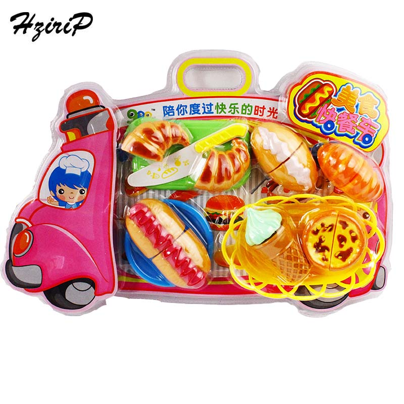 HziriP New Kids Plastic Food Toy Pretend Play Kitchen Set Lovely Ice Cream Bread Children Educational Toys For Gifts Hot Sale