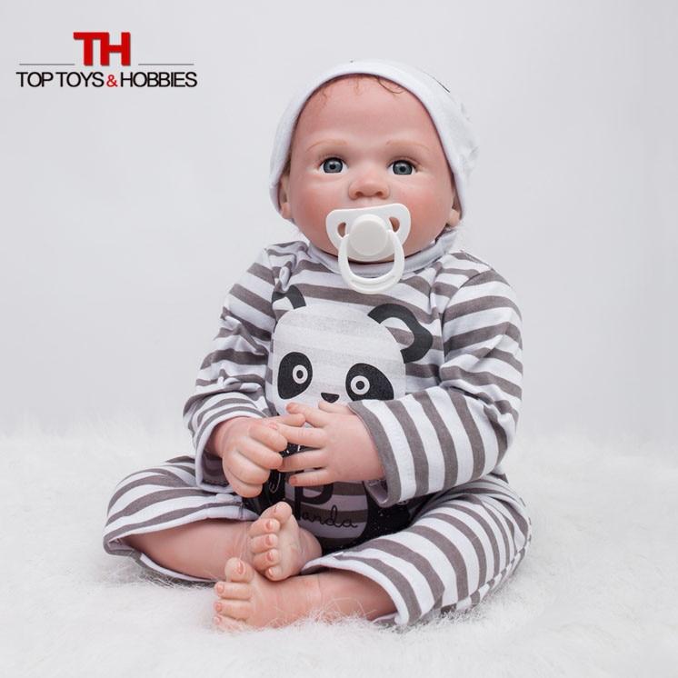 ФОТО Silicone Reborn Doll 20 Inch Realistic Boy Doll Lifelike Baby Alive Born Dolls For Children Girls Toys juguetes