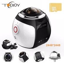 360 Видео Камеры Wifi Мини Панорамная Камера 2448*2448 Ultra HD Панорама Камеры 360 Градусов Водонепроницаемый Спорта Вождения Действий камера