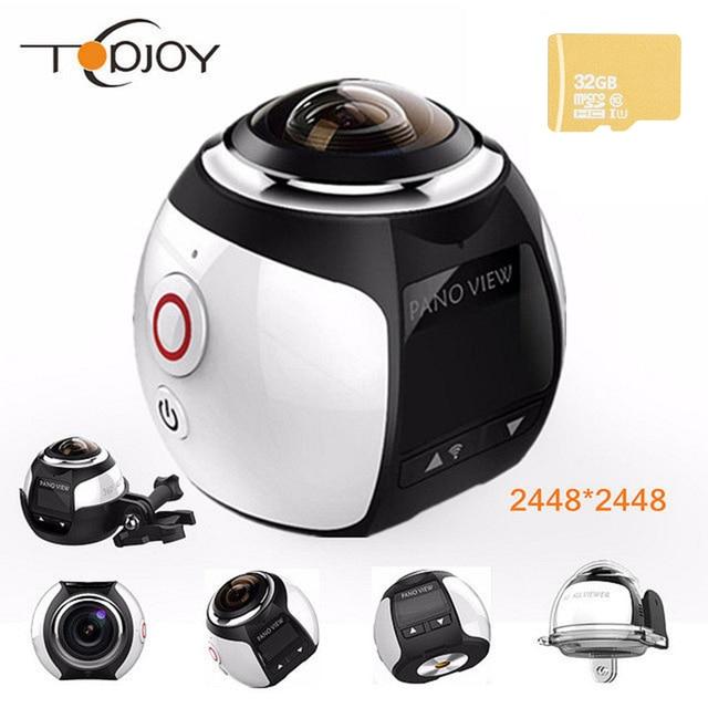 360 видео Камера Wi-Fi мини-панорамная Камера 2448*2448 Ultra HD панорама Камера 360 градусов Водонепроницаемый Спорт вождения действий Камера