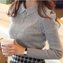 2015 New Fashion Casual Winter Autumn Women Lace Slim Knitted Sweater Femininos Pullover sweaters Blouse Top