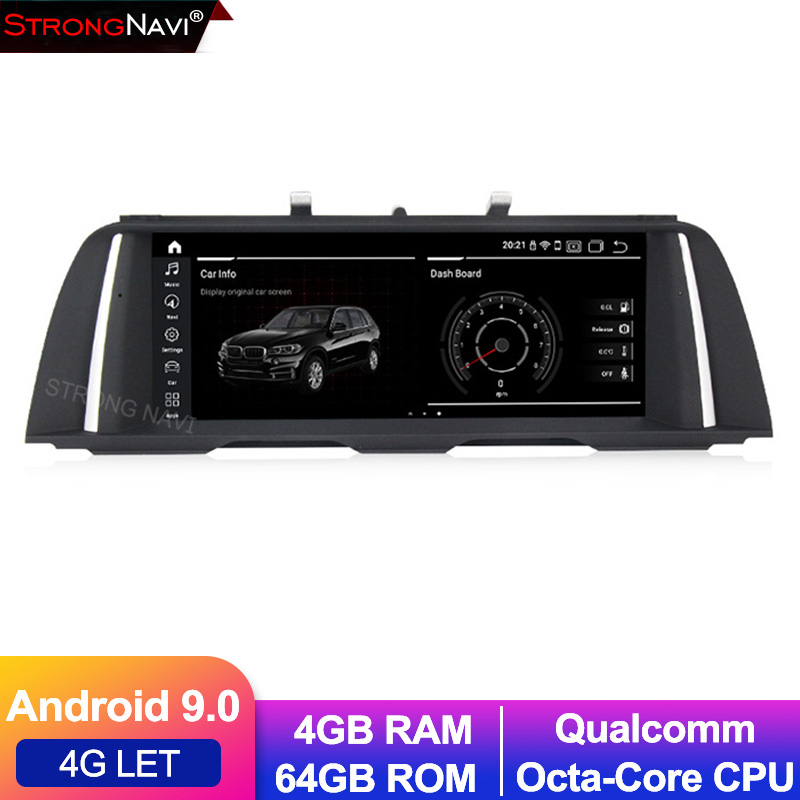 Qualcomm 8 core Android 9.0 4G lte voiture lecteur dvd radio stéréo pour BMW série 5 F10 F11 4G RAM 64G ROM GPS navigation WIFI BT