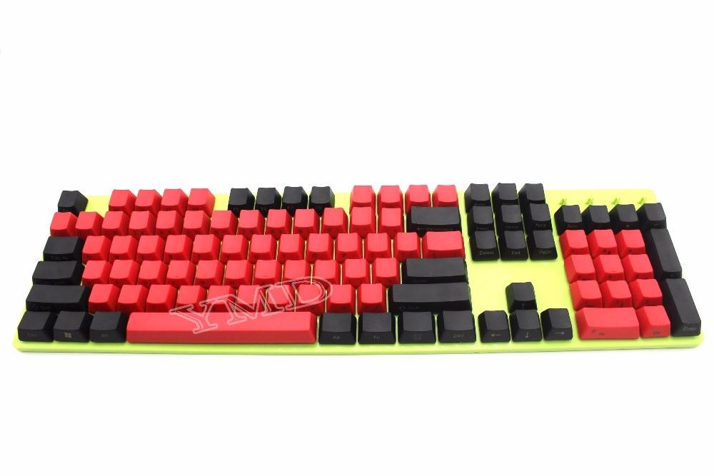 Prix pour Livraison Gratuite NPKC 104 87 61 Mixte Rouge Noir PBT OEM profil Keycap Pour 104 TKL 60% MX Commutateurs Mécanique Clavier de Jeu