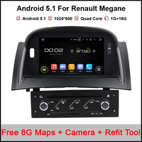 Android 5 1 Car DVD For Renault Megane 2 II 2004 2009 Quad Core 1024 600
