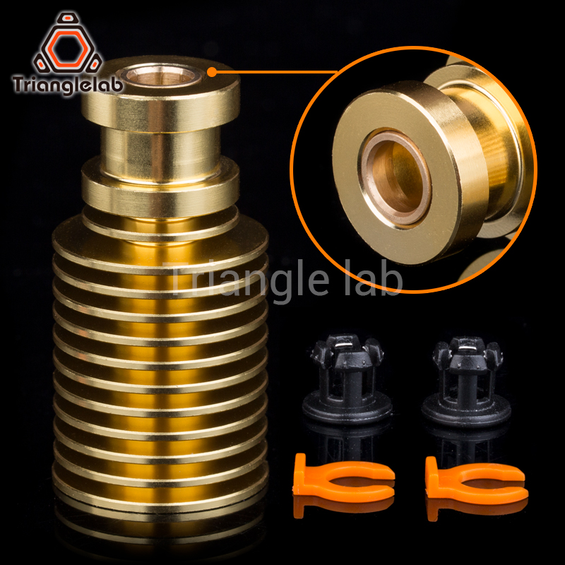 V6 gold heatsink for e3d gold hotend Radiator Remote 1.75MM Direct & Bowden for Feeding 3D printer titan extruder AQUA trianglelab radiator fan cover fan duct for e3d radiator for hotend radiator fan bracket for 3d printer accessory for volcano