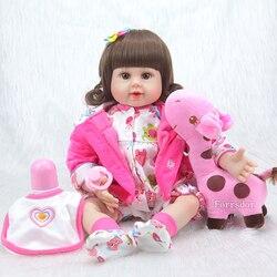 20 nova chegada feito à mão silicone vinil adorável lifelike criança bebê bonecas menina do miúdo bebe boneca renascer menina de silicone