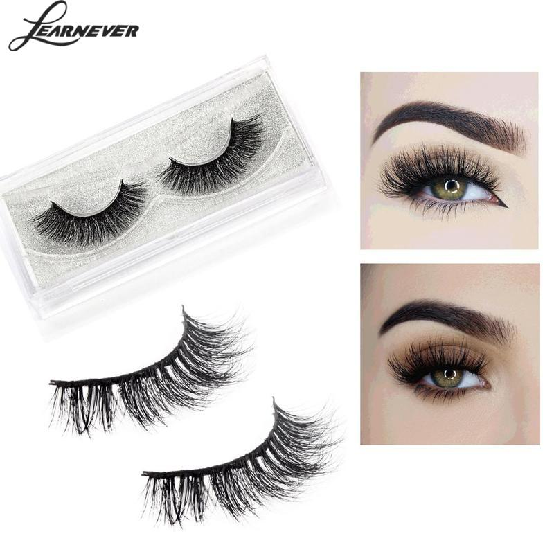 1 Pair Luxury 3d Mink False Lashes Mink Hair False Eyelashes Extension Ultra Wispy Fluffy Eyelashes Long Natural Eye Lashes
