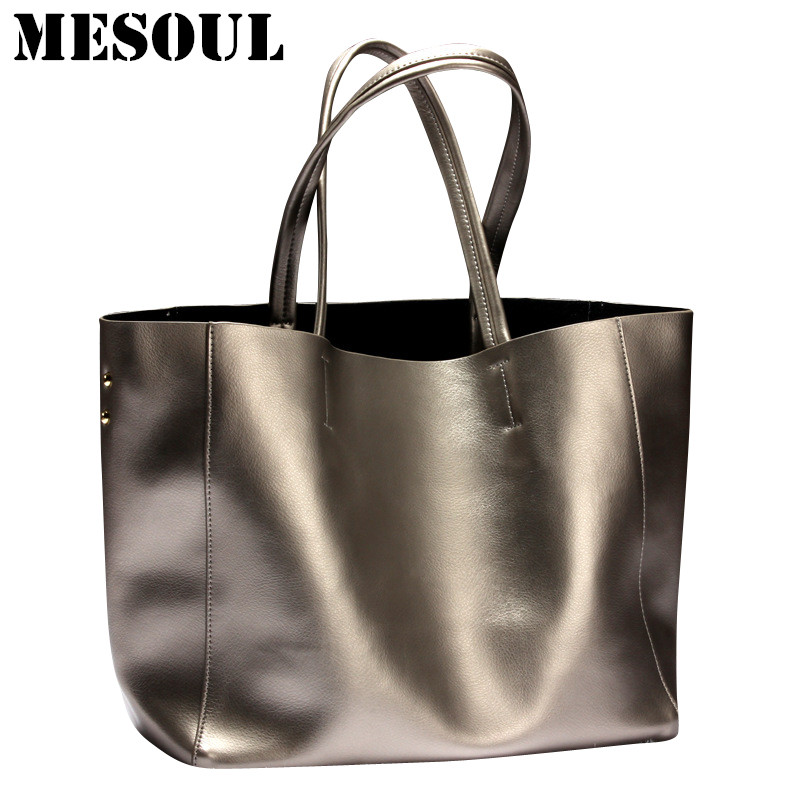Fashion Women Handbags Genuine Leather Bag Female Shoulder Bags 2017 Summer Large Capacity Casual Tote Luxury Brand Designer Bag