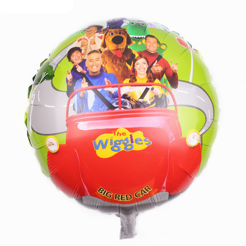 TSZWJ I-001 free shipping 1PCs wiggles foil balloons party supplies helium balloons kids toys gifts ...