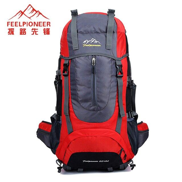 9fad7c5b2b FEEL PIONEER Waterproof Nylon Backpack Men Women Sport School Back Bags  Camping Hiking Pack Ski backpack rock climbing backpack