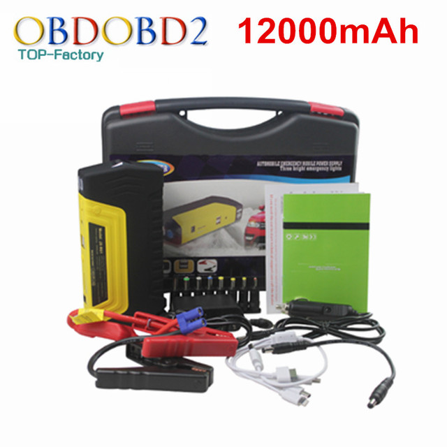 Gasoline&Diesel Version Car Jump Starter AC 12V Auto EPS 12000mAh Car Battery Mobile Phone Power Bank