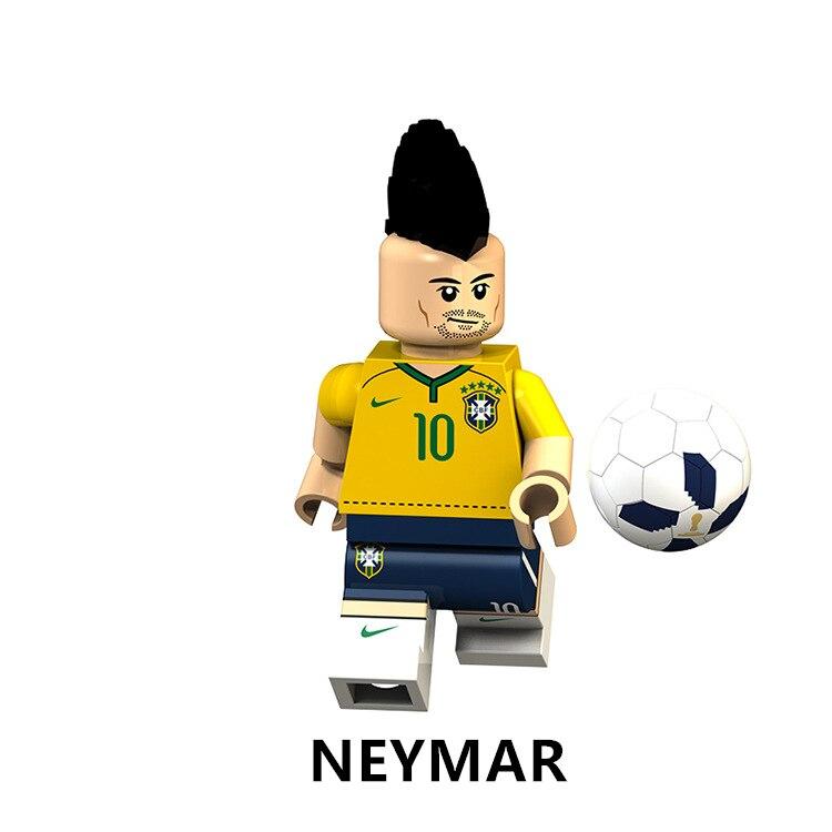 8pcs Lego World Cup Soccer Stars Ronaldo Messi Nazario etc. Beckham Neymar
