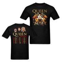 Królowa i Adam Lambert 2017 Koncert Tour Koszulki Mężczyźni I Kobiety Tees Big size S-XXXL