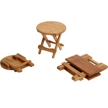 Simple Fashion Foldable Low Round Wooden Stool change shoe stool solid wood
