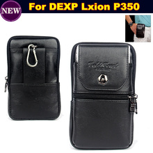 Wallet Phone Bag/Genuine Leather Carry Belt Clip Pouch Waist Purse Case Cover for DEXP Lxion P350 Phone Bag Case Free Shipping