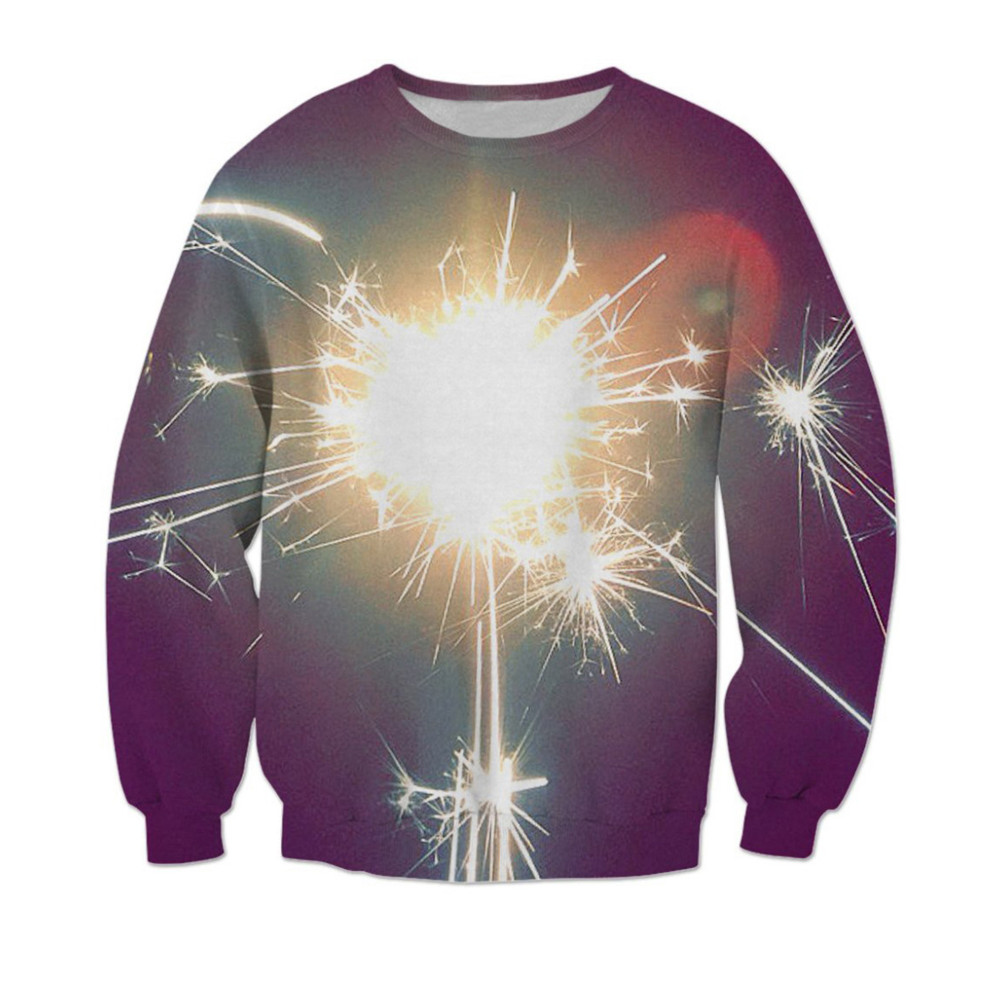 Fitness 3d Firework Sweatshirt Long Sleeve Punk Rock Men Pullover Plus Size 6xl Women/mens Sweatshirts Harajuku 2019 Pullovers More Discounts Surprises Men's Clothing