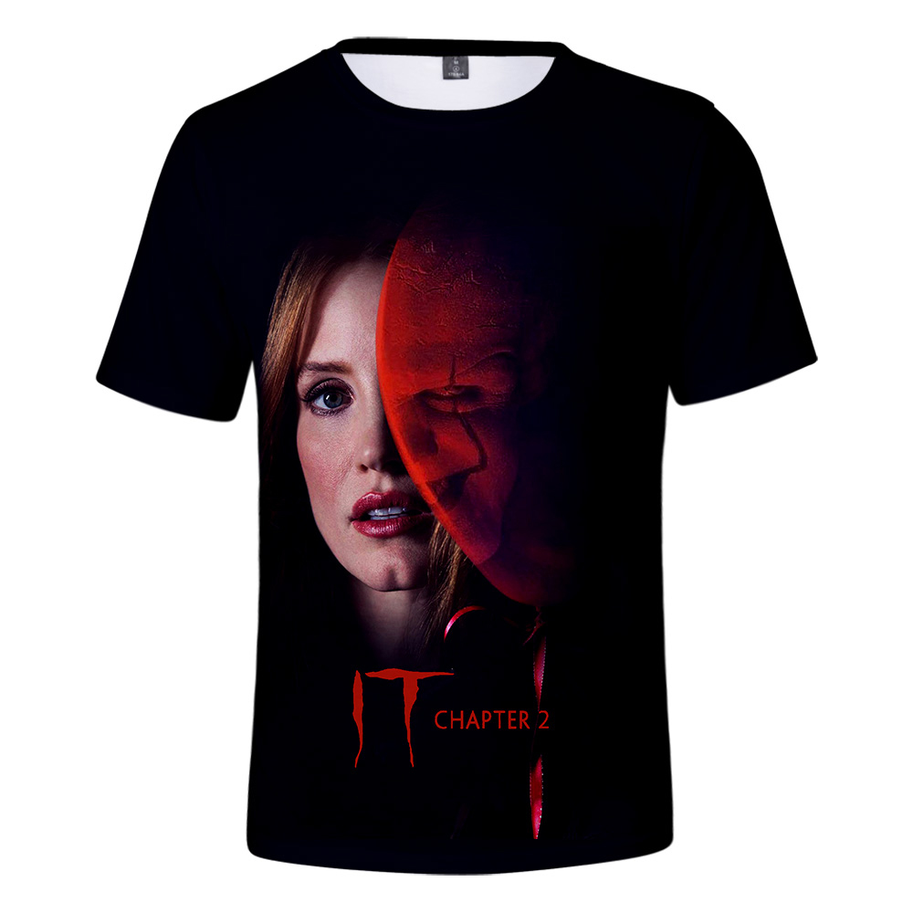 2019 IT chapter 2 3d t shirt Harajuku T-shirt streetwear men/women summer breathable IT chapter 2 fashion short-sleeve XXS Tees