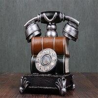 الأزياء الكلاسيكية الرجعية اليد مكرنك الهواتف أصبع بنك المال مربع الإبداعية الحرف ديكور المنزل هدية عيد الطفل هدية