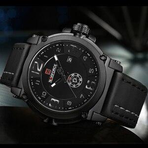 Image 3 - NAVIFORCE 탑 럭셔리 브랜드 남자 스포츠 밀리터리 쿼츠 시계 남자 아날로그 날짜 시계 가죽 스트랩 손목 시계 Relogio Masculino