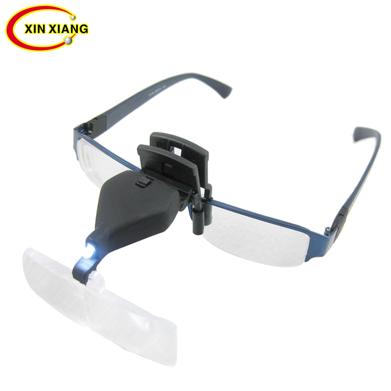 3 Magnification Glasses Magnifier With Led Light Clip Magnifier Lamp 1.5X 2.5X 3.5X Magnifying Glass Reading Jewelry Loupe