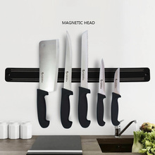 Magnetic Self-adhesive Knife Holder Stand Stainless Steel Block Wall Mounted Easy Storage Knife Rack Strip For Kitchen
