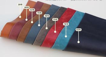 Crazy horse skóry pierwsza warstwa prawdziwej skóry dla DIY materiał o grubości 2.0mm Portfel Dokument Torba materiał 30 kolory