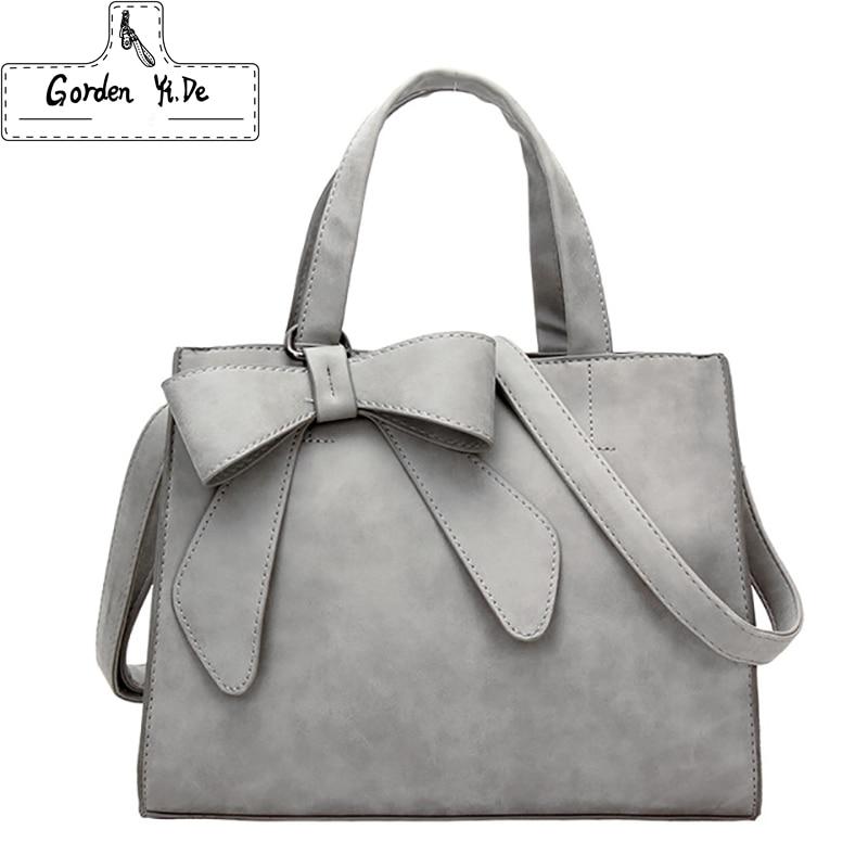 Women Bowknot Vintage Shoulder Bag 2018 Female Causal handbag Lady Daily Shopping Crossbody Bag Bolsa Feminina De Marca Famosa мужской ремень cinto couro marca
