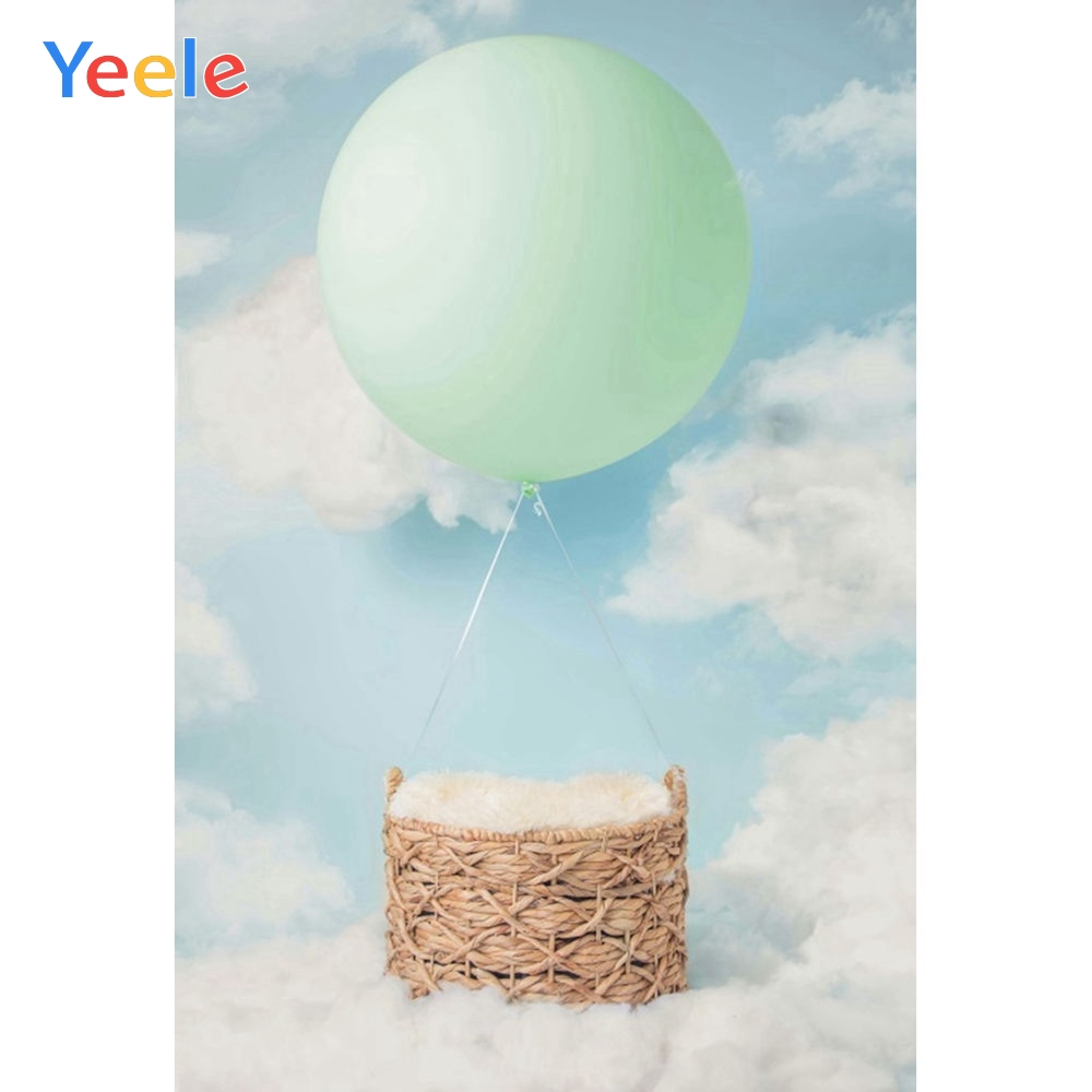 Yeele Balloon Basket Cloud Newborn Self Portrait Photography Backgrounds Personalized Photographic Backdrops For Photo Studio