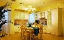 PVC/vinyl kitchen cabinet(LH-PV021) solid wood curved shape kitchen cabinet lh sw089