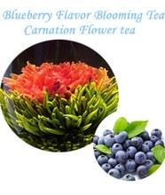 10 unids del Clavel flor de té con sabor a arándano, hecho a mano chino flower tea, paquete de vacío para las bolas de té