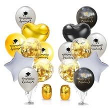 Mixed color set graduation season rose gold sequins balloon combination congratulations party decora