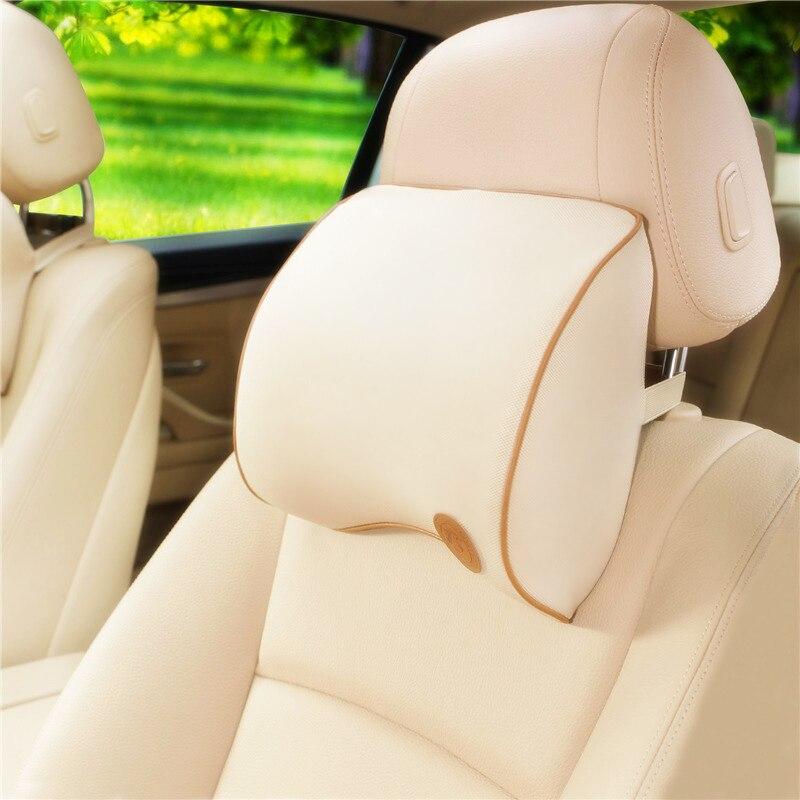 Car Pillow Headrest Supports Memory Cotton Head Foam Pillow Car Seat Head Neck Rest Massage Memory Foam Car Neckrest Pillow mocha slow rebound memory pillow neck support memory foam pillow