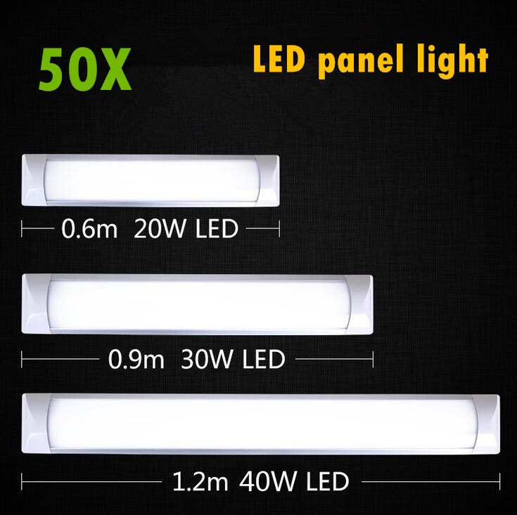 LED Panel Light 0.6m 0.9m 1.2m LED flat batten lamp Surface Mounted Ceiling Lamps Purification lights T5 T8 Tube Light AC85-265V 2pcs set t5 led light tube ac85 265v 2 5w wall lamps 1ft led t5 tube fluorescent lamp lights connect cord power switch cable