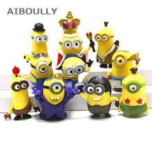 10pcs/pack 3D Crown Minions Miniature Figurines Toys Car mod