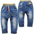 3885 мягкие джинсовые Слегка перекрестные брюки дети детские брюки весна и осень девушки синий мальчик мальчики детские джинсы мальчик джинсы