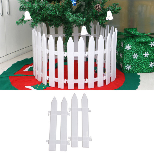 5pcslot christmas tree fences white color christmas decorative fence xmas decorations ornaments supplies - Christmas Fence Decorations