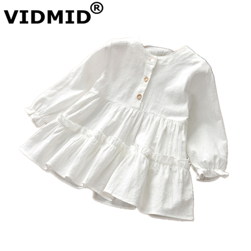 VIDMID new girls long sleeves dresses kids cotton clothes spring autumn dresses baby girls clothing children's dresses 7071 04 1