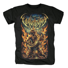 Bloodhoof  Vulvodynia Brutal Deathcore rock band  mens black T Shirt in summer  Asian Size