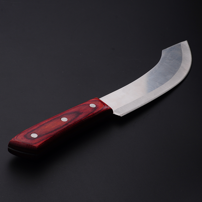 Penghantaran Percuma Kitchen Forged Cutting Knives Boning Pisau Alloy Steel Penyembelihan Butcher Butcher Split Cow Pig Peeling Knife