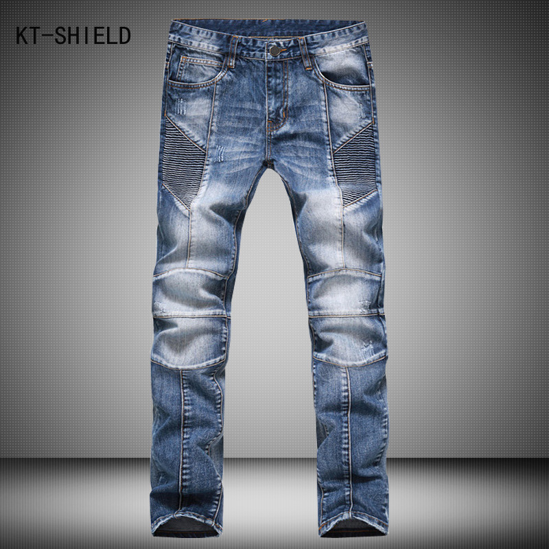 ФОТО Famous Brand Fashion Skinny Denim Overalls Men New Arrival Designer Slim Fit Jogger Jeans For Men Good Quality Biker Jeans Homme