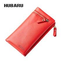 Купить с кэшбэком HUBARU New Fashion Women Wallets Snap Closure PU Zipper Wallet Women's Long Design Purse Two Fold Female Wallet