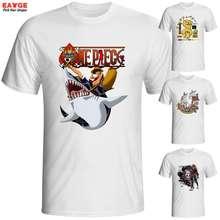 One Piece O-neck Printed T shirt