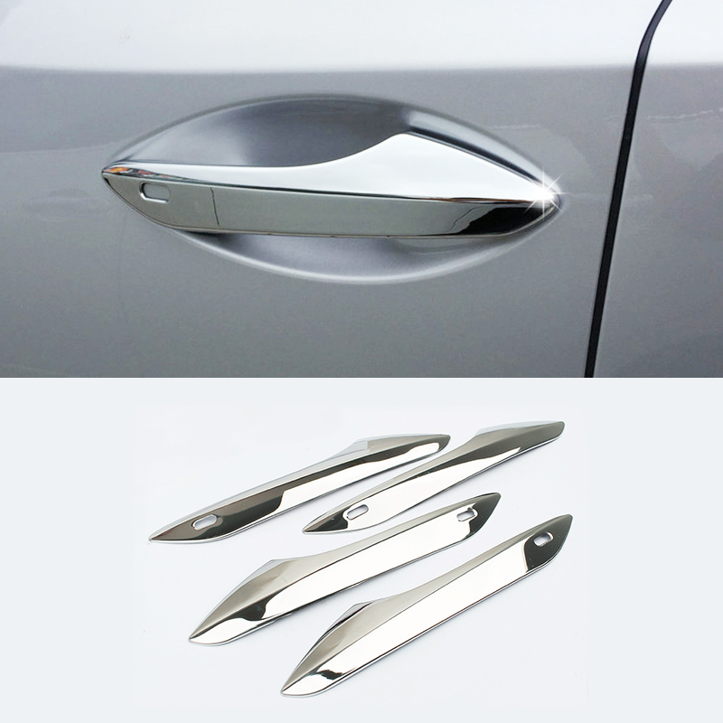 ABS Chrome Side Door Handle Catch Cover Trims Protector 4Pcs For <font><b>Lexus</b></font> <font><b>RX350</b></font> 450h 2016 2017 <font><b>2018</b></font> Car Styling <font><b>Accessory</b></font> image