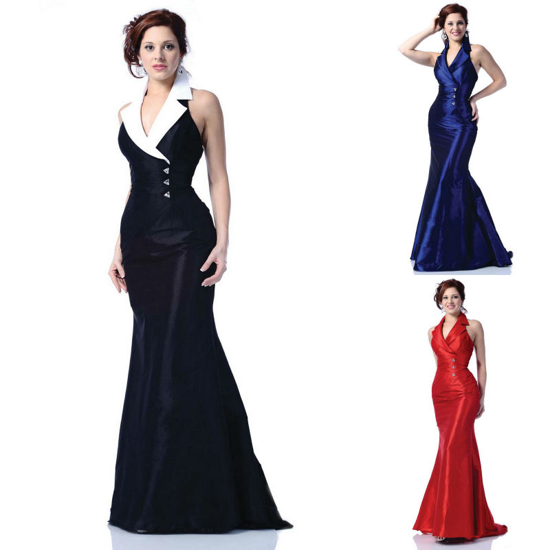 Red Midnight Blue Black Formal Women Gown Long Floor Length Mermaid ...