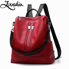 LOVAKIA fashion women backpack high quality youth leather backpacks for teenage girls female school shoulder bag bagpack mochila