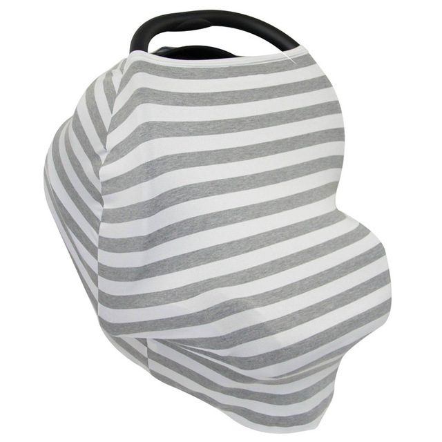 3 in 1 infant baby car seat cover rayon nursing cover canopy stripe