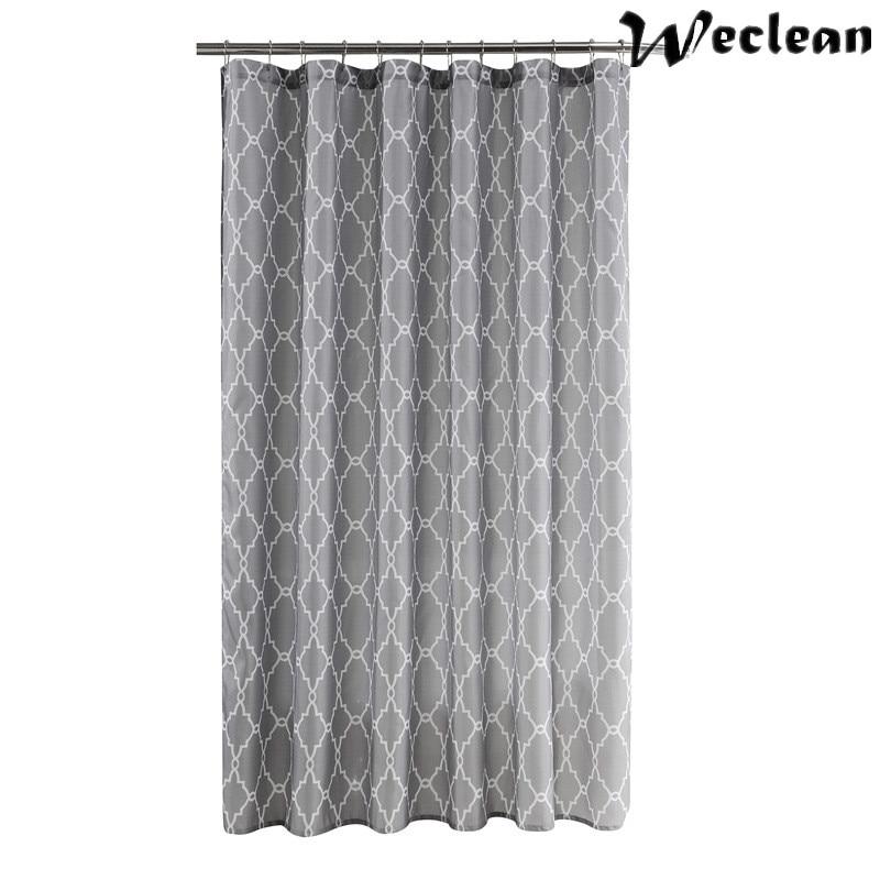 Weclean 1 Piece Geometric Elegant Shower Curtain 200cm Water ...